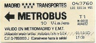 Madrid - Metrobus