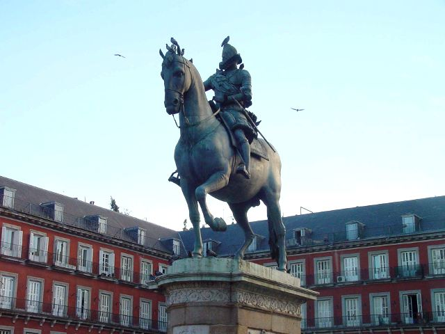 Madrid - Plaza Mayor - Estatua Felipe III