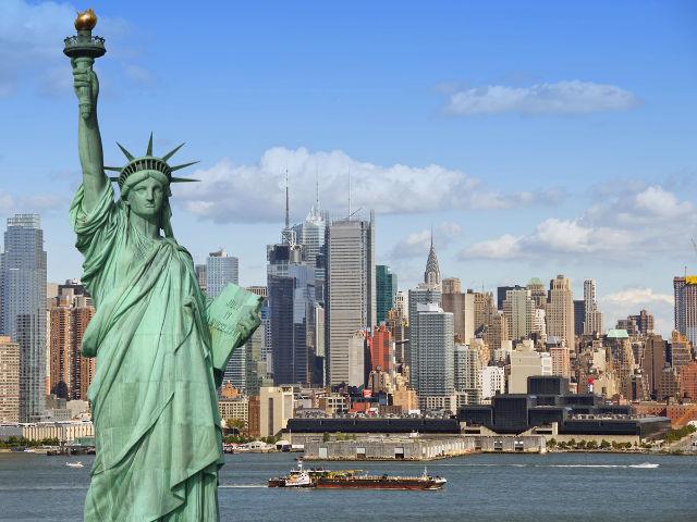 Nueva York - Estatua de la Libertad y Manhattan