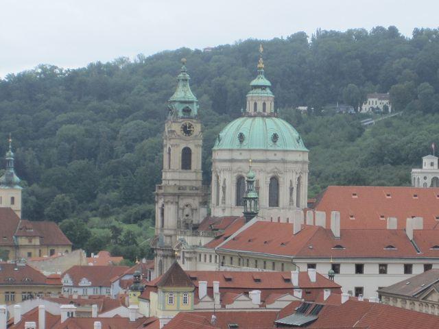 Praga - Iglesia de San Nicolás - Cúpula y Torre