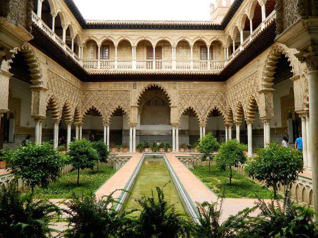 Sevilla - Reales Alcázares - Patio de las Doncellas
