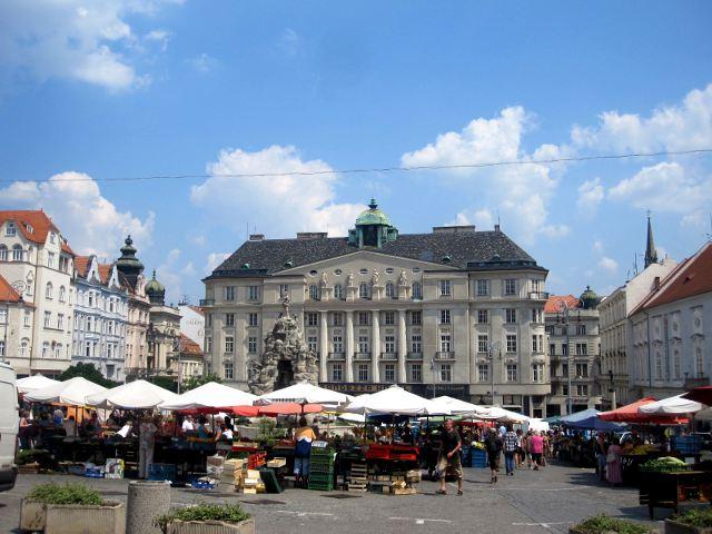 Brno - Plaza del Mercado