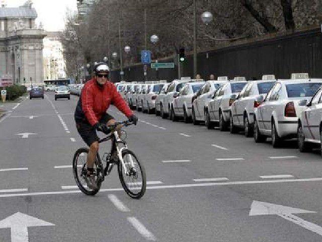 Ciclista - Dirección prohibida