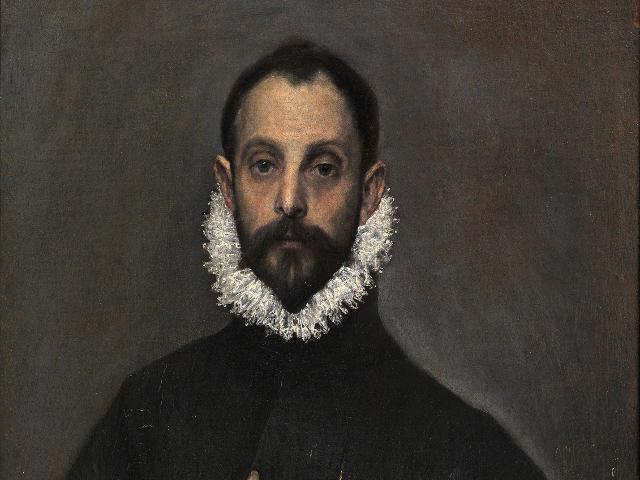 Madrid - Museo del Prado - Caballero Mano Pecho