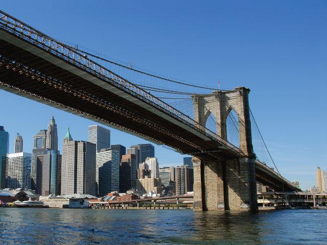 Cruzar el Puente de Brooklyn. El más famoso de Nueva York