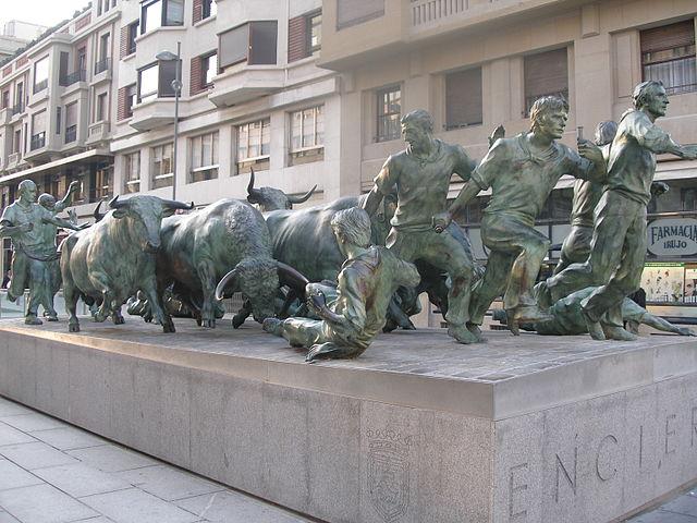 Pamplona - Monumento al Encierro