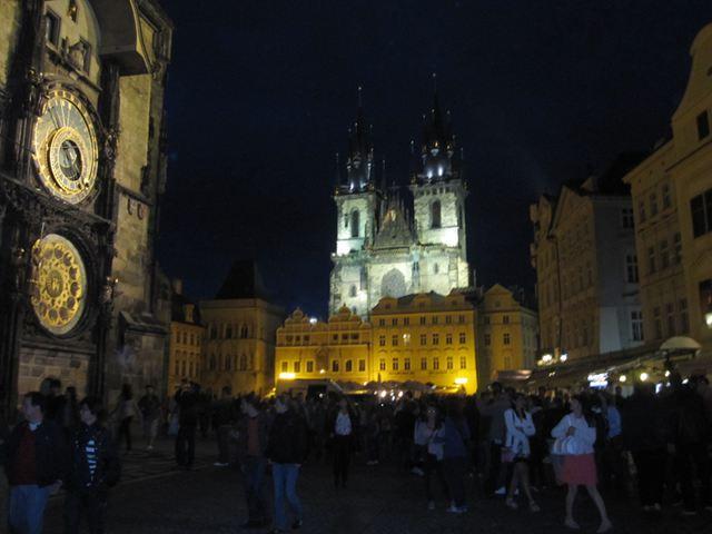 Praga - Plaza de la Ciudad Vieja - Noche