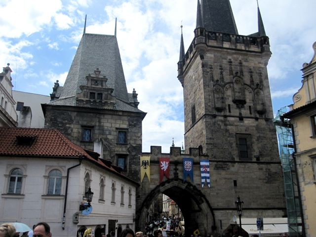 Praga - Torres del Puente de Carlos
