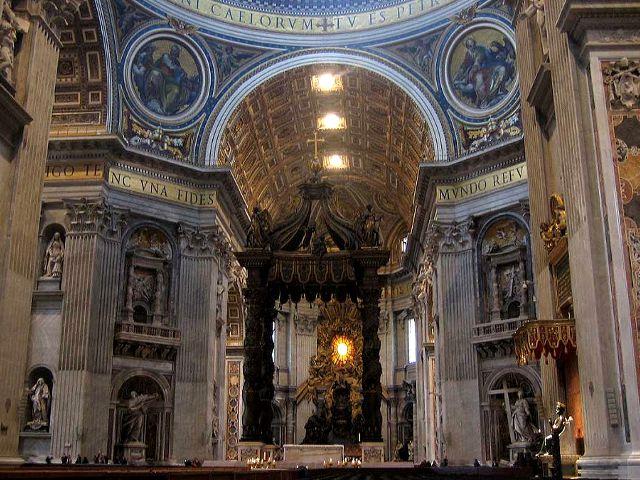 Roma - Basílica de San Pedro - Interior
