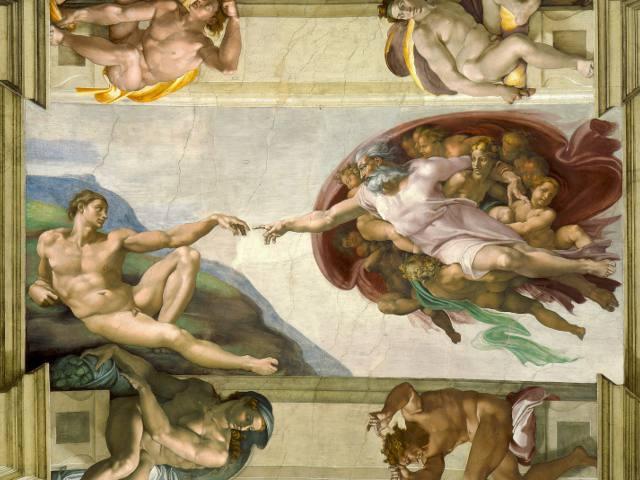 Roma - Capilla Sixtina - La Creacion de Adan
