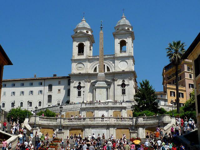 La Plaza de España de Roma y sus famosas escaleras