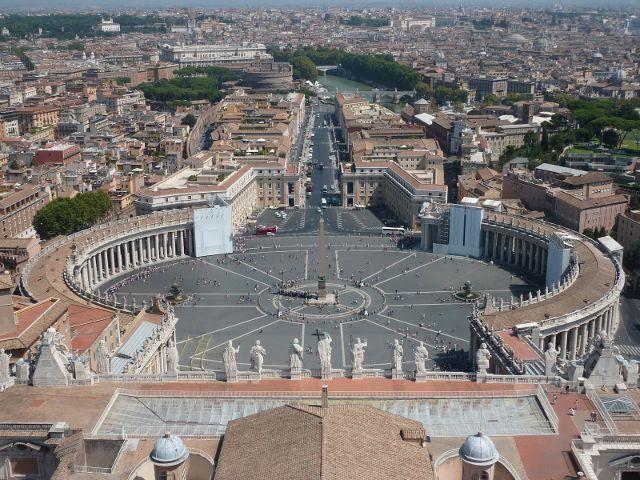 Roma - Plaza de San Pedro - Vista aerea